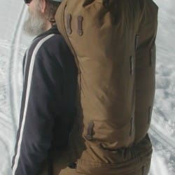 large capacity frameless backpack