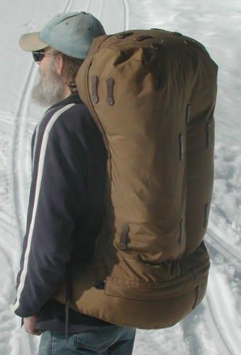large capacity frameless backpack